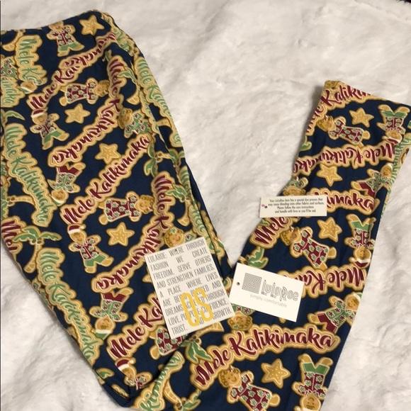 0fbe403ab91754 LuLaRoe Pants   Os Mele Kalikimaka Leggings Merry Bright   Poshmark